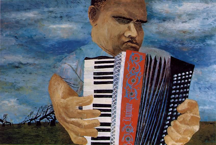 Ben Shahn, Slepý harmonikář, 1945