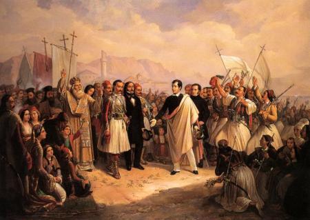 Theodoros Vryzakis, Přijetí lorda Byrona v Missolonghi, 1861